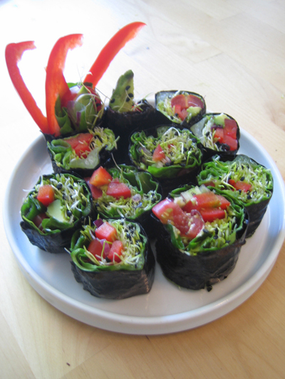 Raw Radiant Health - Vegetable Nori Roll Recipe